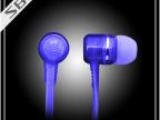厂家批发 新款手机耳机 通用带麦手机耳机 透明水晶线彩色耳机