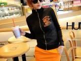 2014春夏季韩版李孝利长袖卫衣套装短裙 女式时尚套装短裙批发