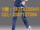 上海七浦路韩版修身小脚裤厂家直销地摊货牛仔裤批发市场10元