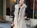 批发2013秋冬季时尚新款精选仿兔毛豹披肩背心保暖马甲外套皮草