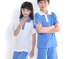 中山厂家小学生统一夏装订做小学校服运动服男女套装短袖短裤定制