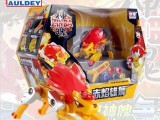 奥迪双钻神魂变形对战机器人商超版赤焰雄狮C儿童男孩玩具