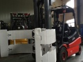 供应优质二手3吨合力纸卷夹抱叉车 圆桶纸夹包叉车促销