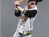 童装男童卫衣三件套春装2015新款儿童运动套装春款棒球服大童男装