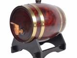 橡木酒桶 5L酒红色酒桶无胆 卧式酒桶加工定制 葡萄酒橡木桶