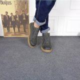 厂家直销男士马丁靴欧美风高帮加绒棉鞋防滑耐磨橡胶底保暖工装鞋