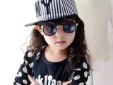 韩版春夏天潮男女宝宝 条纹NY字母儿童嘻哈街舞平沿棒球帽子