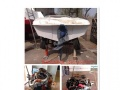 玻璃钢钓鱼船舷内外机+推进器+柴油发动机康明斯160马力