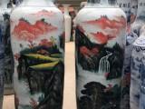西安开业庆典2米大花瓶摆件金黄大花瓶