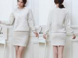 2015年韩版秋季新款厂家女式运动休闲套装 大码长袖卫衣套装女