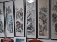 长沙画廊装饰字画书法国画风水画书房客厅挂画 品种多