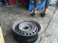 转让天籁十六寸钢圈轮毂