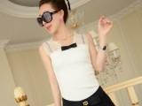 2014春夏季新款 时尚女人味 蕾丝蝴蝶结 修身韩版小背心 批发