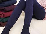 加绒加厚打底裤秋冬季女韩版七彩棉踩脚长裤 特厚外穿一体保暖裤