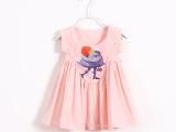 夏季韩版女童棉布裙子 卡通印花背心裙中小童宝宝衣服 厂家直销
