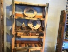 老船木家具 石槽厚板茶桌 旧船木茶台