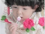 推销新款儿童大草莓纯手工围巾 儿童镂空装饰围巾 韩版百搭款围巾