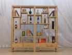 厂家批发中式实木两门两抽博古架 仿古家具多宝阁古董架展示柜