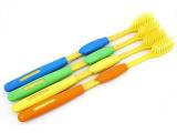 韩国纳米旅行牙刷家居软毛牙刷圆形手柄牙刷4支一板套装