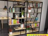 北欧客厅餐厅铁艺隔断装饰置物架LOFT创意展示书柜书架组合