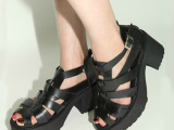 厂家直销2014夏季凉鞋松糕潮女鞋高跟鞋厚底粗跟鱼嘴凉鞋新款韩版