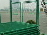 绿色体育场围网护栏户外篮球场地围栏网菱形网铁丝网护栏勾花网
