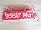 厂家直供台式机KT猫键盘鼠标套 USB键鼠套装 防水有线键盘