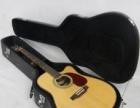 转让个人的纯进口的43的大号单板吉他带大牛皮琴箱
