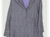 冬装新款日系女士加厚棉衣外套 带帽风衣外套