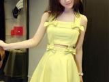 2014新款欧洲站蝴蝶结气质夜店性感女装吊带连衣裙6545