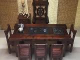 老船木茶桌椅阳台小茶几客厅会客茶台茶几办公会客家具