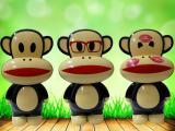 新款大嘴猴充电LED台灯 学习护眼台灯 新奇特个性充电小夜灯