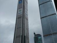 深圳平安国际金融中心大厦广告招牌字LOGO玻璃贴膜上门服务