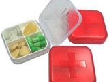 D27  新版十字四格塑料小药盒