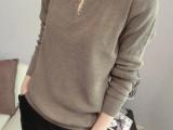 2015秋装新款毛衣女装针织衫 宽松 女 韩版百搭长袖低领打底毛