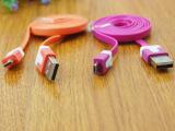 面条数据线安卓智能加长彩色数据线手机数据线USB线2元店义乌批发