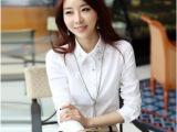 2014春季新款韩版大码女装衬衣烫钻上衣打底衫白衬衫女长袖批发
