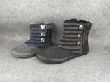 外贸原单女棉鞋平底圆头亲子雪地棉加绒短靴