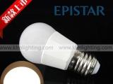2015新款塑包铝球泡灯 E27家用螺口灯泡 高光亮球泡