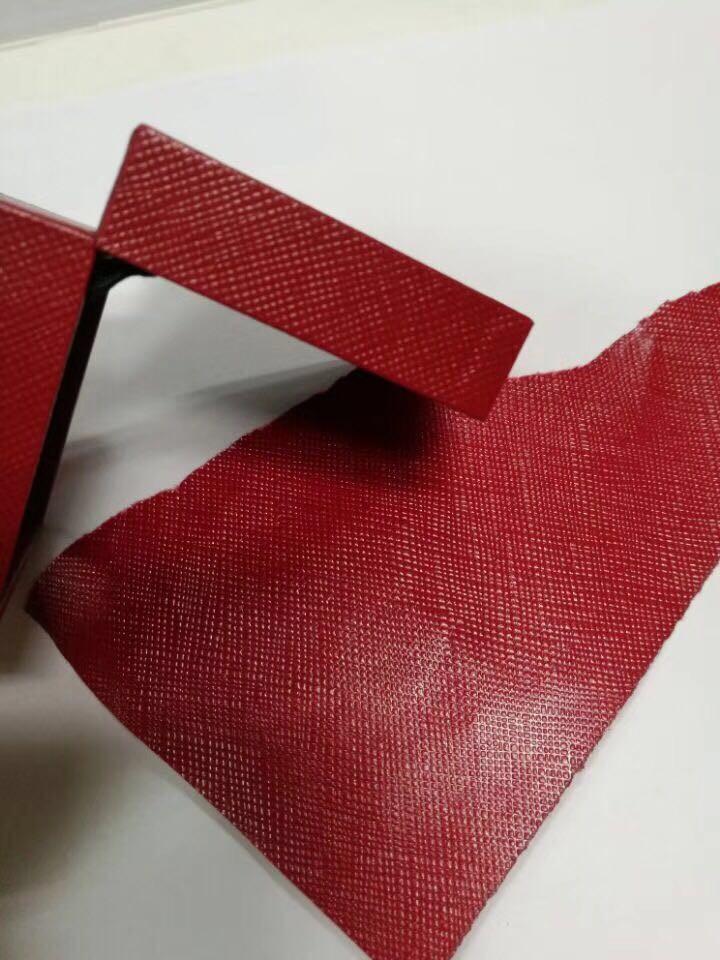 现货批发防水充皮纸大红色 网格纹 金币盒 新年礼盒首饰盒专用