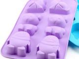 硅胶蛋糕模.皂模 6个动物冰格巧克力布丁