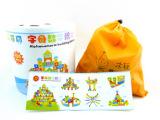 100粒数字桶装积木批发 儿童早教启蒙益智木制大块实木质拼插玩具