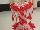 手工串珠/DIY制作/創意禮品/家居飾品/大紅色花瓶成品