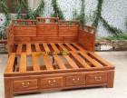 新中式推拉床实木大床双人床罗汉床多功能床沙发床推拉两用床定制