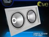 新款20W/30W压铸豆胆灯双头套件 AR111斗胆灯COB天花