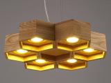 中式灯灯饰创意个性吊灯北欧宜家餐厅客厅卧室水曲柳木艺吊灯具