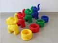 幼儿园儿童运动玩具感统训练可爱小象套圈 游乐场小象投掷套圈