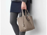 2014新款潮流欧美高端大牌女包 荔枝纹手拎包 头层牛皮水桶包