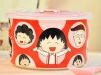小丸子卡通情侣餐具骨瓷碗韩式米饭碗套装创意陶瓷碗 特价
