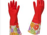 敞口花袖家用乳胶手套 衣服手套 清洁手套 生活日用 洗衣手套批发